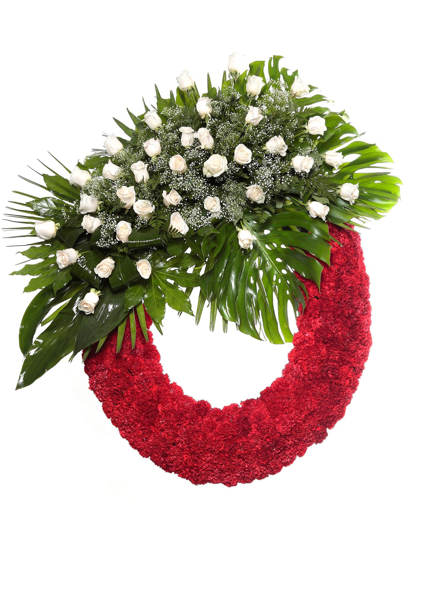 Corona flores tanatorio 5 r coronas tanatorios en le n - Coronitas de flores ...