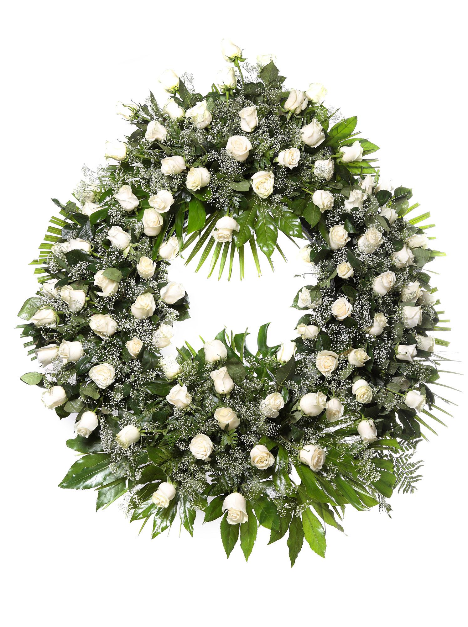 Corona flores tanatorio 9 b coronas tanatorios en le n - Coronas de flore ...