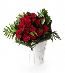 15 rosas rojas San Valentín