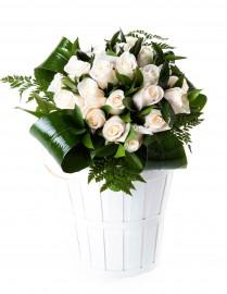 25 rosas blancas San Valentín