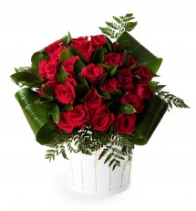 25 rosas rojas San Valentín