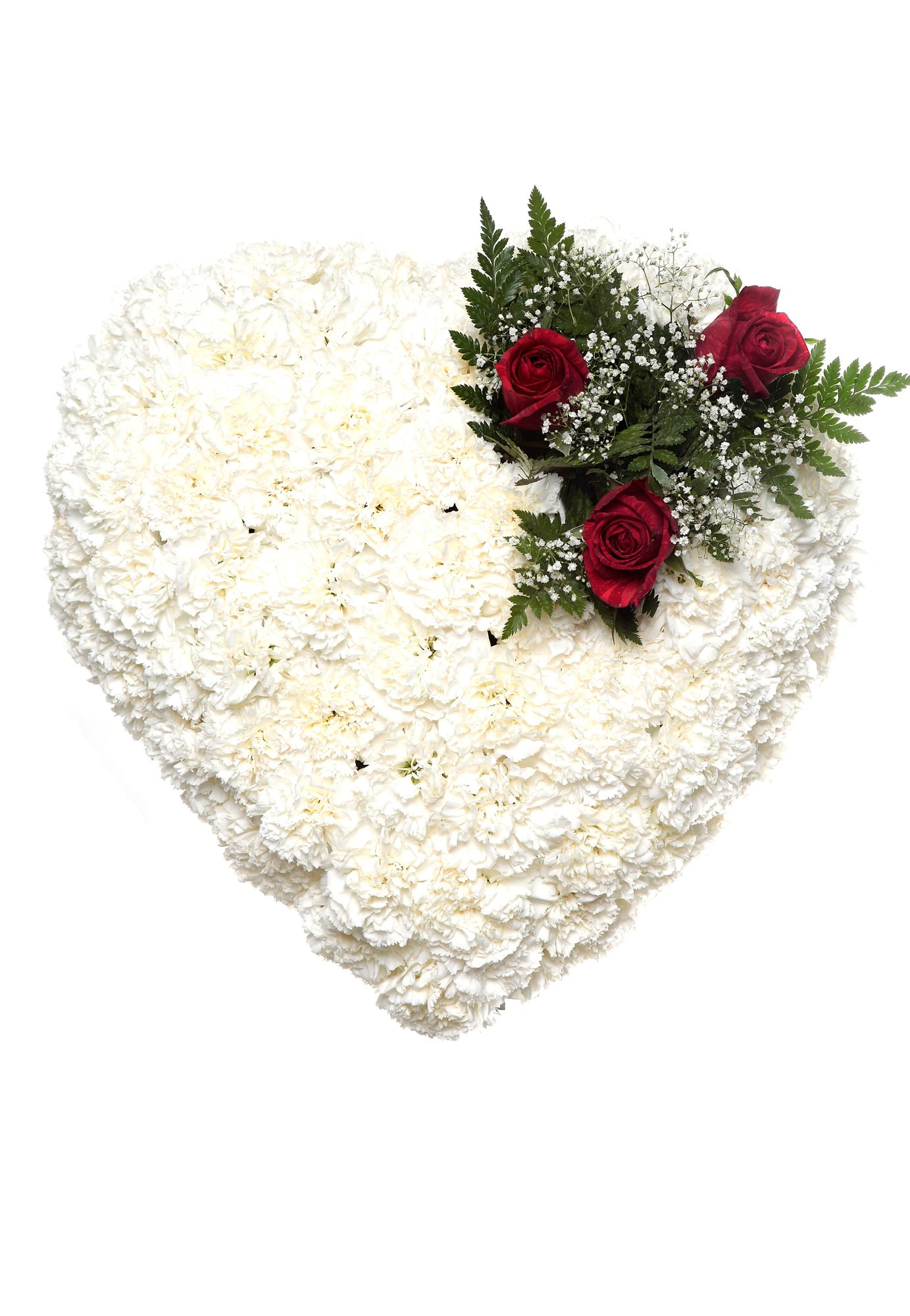 Corazón flores tanatorio