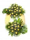 Corona flores tanatorio 7 L