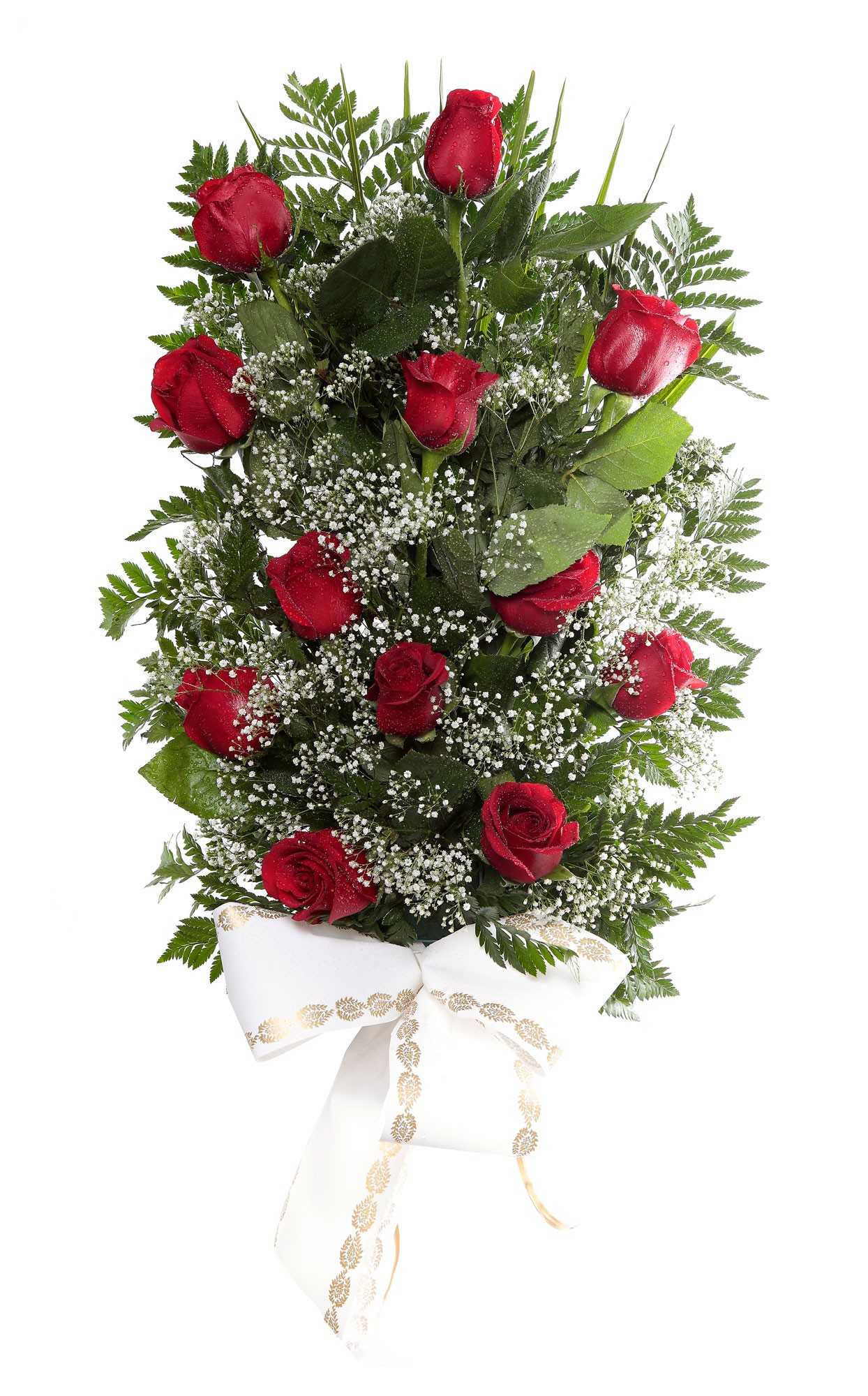 Ramo 12 rosas tanatorio