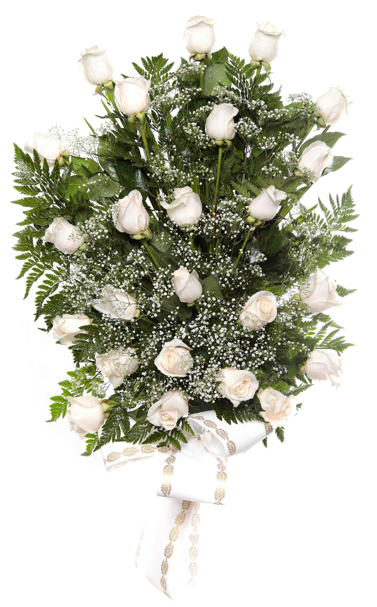 Ramo 24 rosas tanatorio